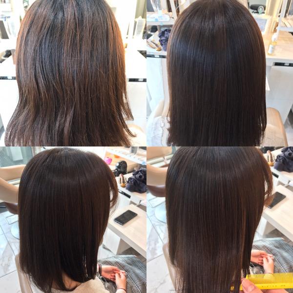 縮毛矯正カラーの写真