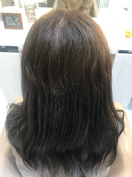 縮毛矯正をする前の髪